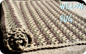 Willow Rug Pattern by DivineDebris.com