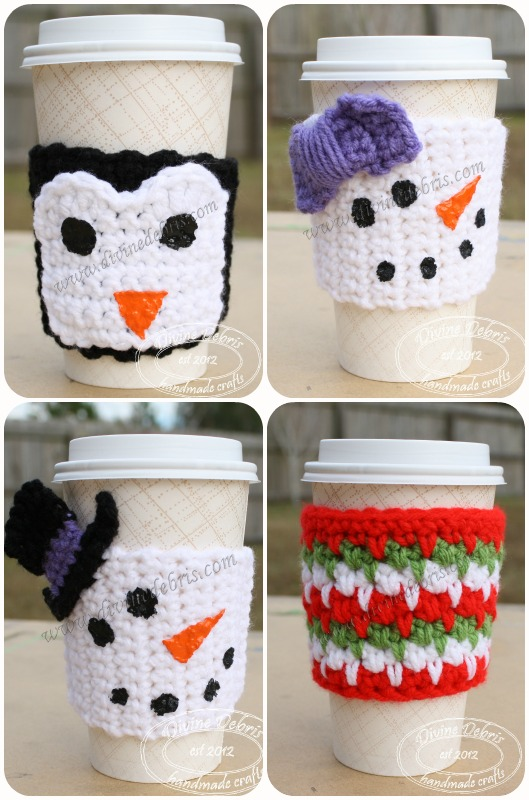 Winter Mug Cozies by Divinedebris.com