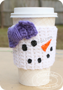 Snowwoman mug cozy by DivineDebris.com