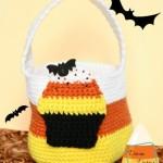 Candy Corn Bag crochet pattern by DivineDebris.com