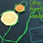 Citrus Barefoot Sandals Pattern by DivineDebris.com