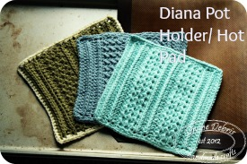 Diana Hot Pad/ Pot Holders pattern by DivineDebris.com