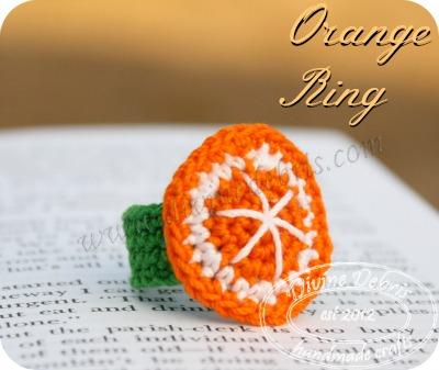 Orange Ring Pattern by DivineDebris.com