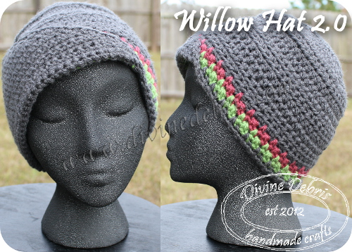 Willow Hat 2.0 Pattern by DivineDebris.com