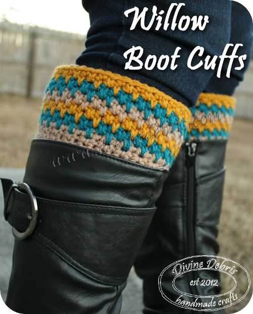 Willow Boot Cuffs Pattern by DivineDebris.com