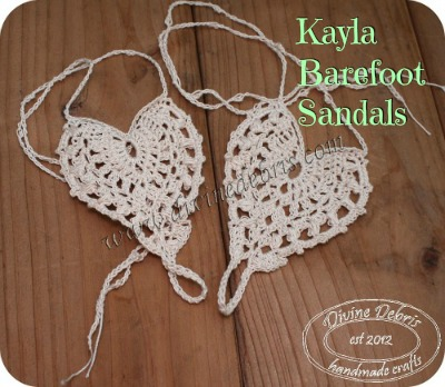 Kayla Barefoot Sandals Free Crochet Pattern