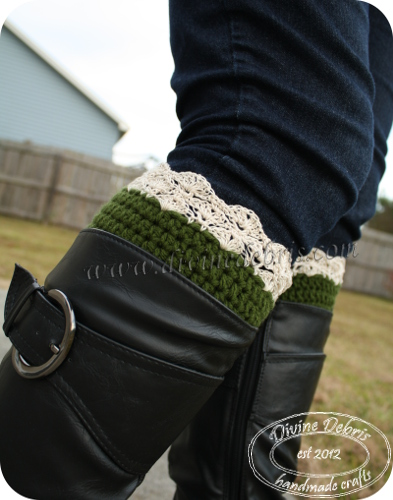 Eva Boot Cuffs Pattern by Divine Debris
