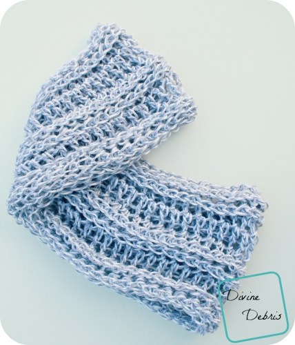 Abby Scarf free crochet pattern by DivineDebris.com