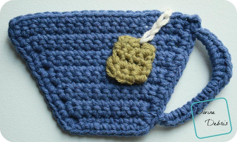 Tea Cup Applique/ Coaster pattern by DivineDebris
