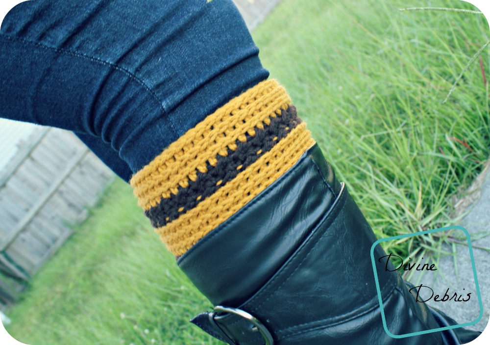 Diana Boot Cuffs Pattern by DivineDebris.com