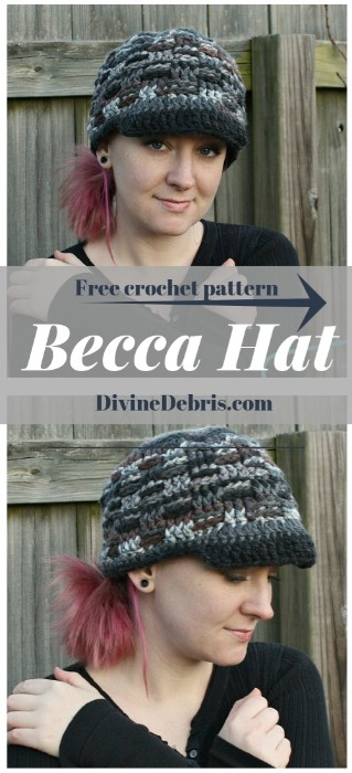 Becca Hat free crochet pattern by DivineDebris.com