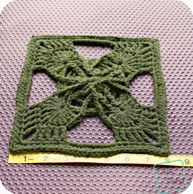 Olivia Square Blocking crochet pattern by DivineDebris.com