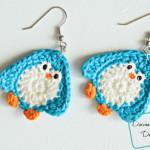Penny Penguin applique crochet patterns by DivineDebris.com
