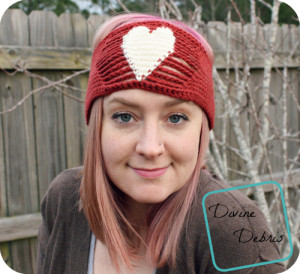 Candace Headband free crochet pattern by DivineDebris.com