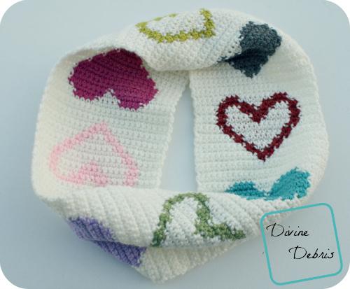 Heidi Cowl free crochet pattern by DivineDebris.com