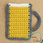 Mug of Beer free crochet applique by DivineDebris.com