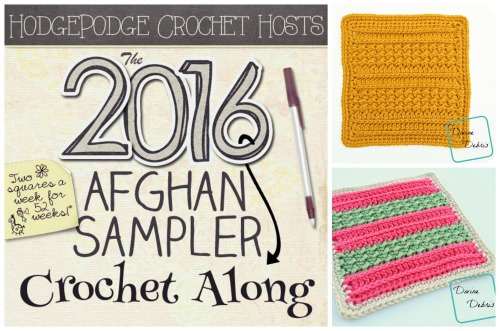 HodgePodge Crochet presents the 2016 Afghan Sampler Crochet Along