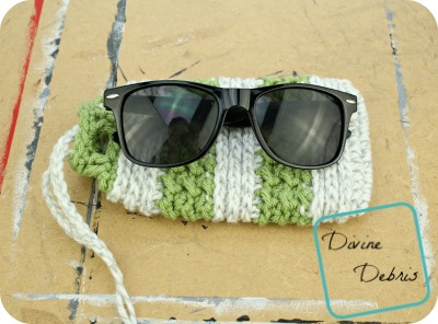Diana Sunglasses Bag free crochet pattern by DivineDebris.com