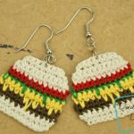 Anna Burger Bag, a free crochet earring pattern by DivineDebris.com