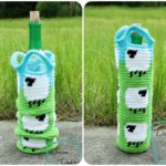 Shelia Sheep Cozy, a free crochet wine bottle cozy pattern by Divine Debris.com