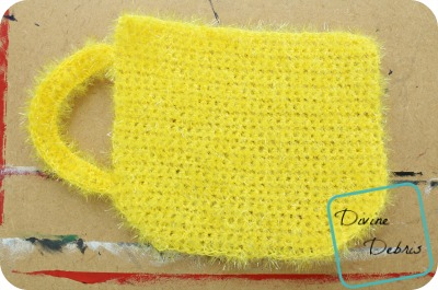 Coffee Cup Washcloth free crochet pattern by DivineDebris.com