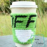 Hot Coffee Cozy free crochet pattern by DivineDebris.com