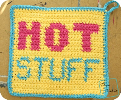 Hot Stuff Hot Pad free crochet pattern by DivineDebris.com