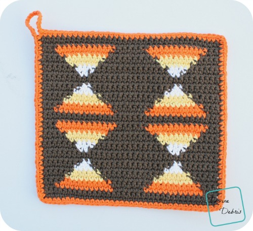 Candy Corn Hot Pad
