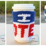 I Voted Mug Cozy crochet pattern by DivineDebris.com