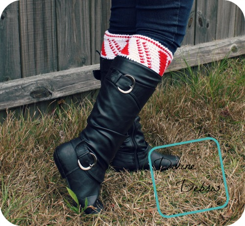 Candy Cane Boot Cuffs