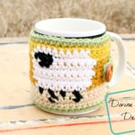 Dancing Sheep Cup Cozy crochet pattern by DivineDebris.com