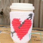Heart Mug Cozy crochet pattern by DivineDebris.com