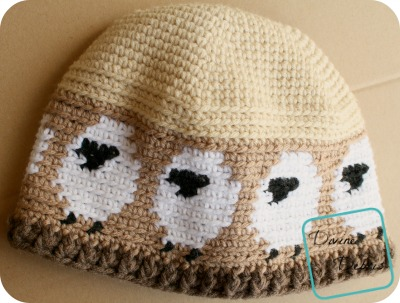 Dancing Sheep Hat free crochet pattern by DivineDebris.com