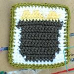 Free Pot of Gold Coaster crochet pattern by DivineDebris.com