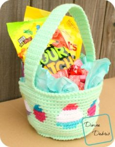 Tapestry Easter Basket crochet pattern by DivineDebris.com
