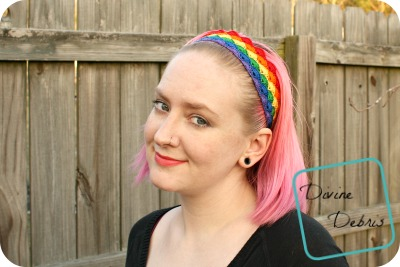 Janice (sort of) Rainbow Headband