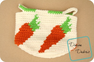 Cute Carrots Crochet Basket pattern by DivineDebris.com