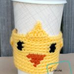 Chick Cup Cozy free crochet pattern by DivineDebris.com