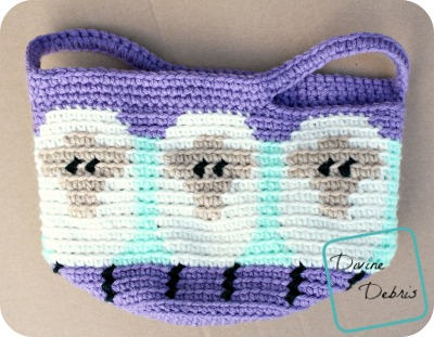 Dancing Sheep Basket crochet pattern by DivineDebris.com