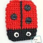 Free Ladybug Coaster crochet pattern by DivineDebris.com