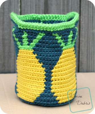 Practical Pineapples Basket crochet pattern by DivineDebris.com