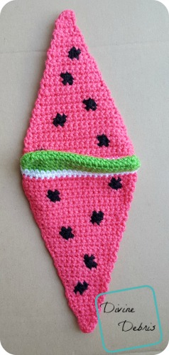 Wedge of Watermelon crochet pattern by DivineDebris.com
