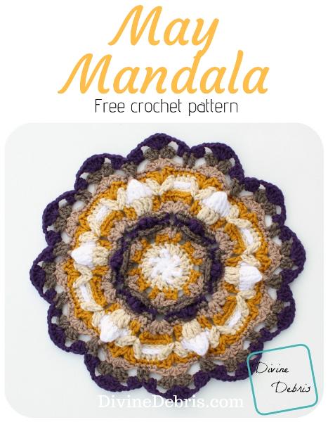 May Mandala free crochet pattern by DivineDebris.com #crochet #freepattern #mandalas