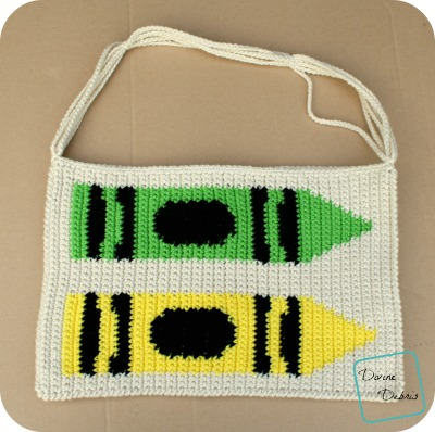 Crayons are Cute Bag crochet pattern by DivineDebris.com