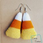 Candy Corn Earrings crochet pattern by DivineDebris.com