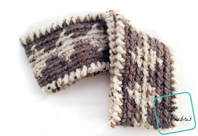 Diamonds Earwarmer free crochet pattern by DivineDebris.com