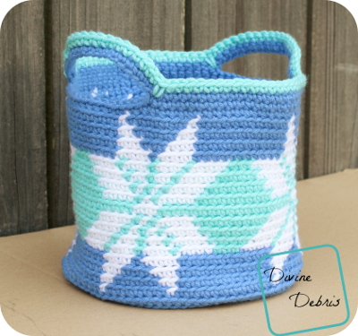 Pretty Snowflakes Basket Free Crochet pattern by DivineDebris.com