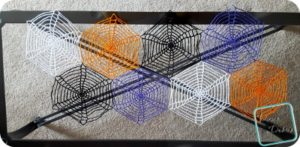 Spiderwebs Table Runner free crochet pattern by Divine Debris.com