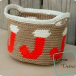 Joyful Stocking Basket free crochet pattern by DivineDebris.com
