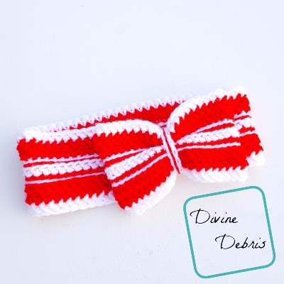 Ribbon Candy Headband free crochet pattern by DivineDebris.com